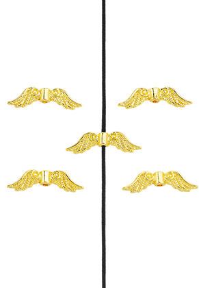 www.sayila.com - Metal beads wings 23x7mm