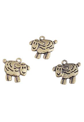 www.sayila.com - Metal pendants/charms sheep 18x16,5mm