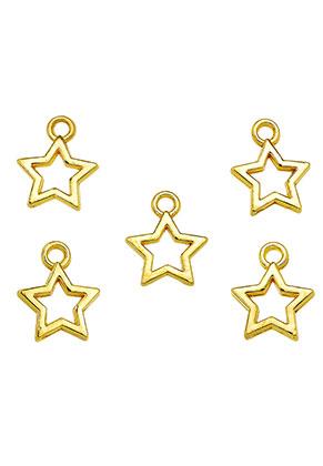www.sayila.nl - Metalen hangers/bedels ster 13x11mm