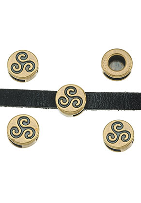 www.sayila.fr - Perles coulissantes en métal plates circulaires 13x5,5mm