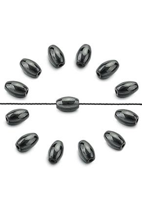 www.sayila.com - Natural stone beads Hematite oval 8x5mm