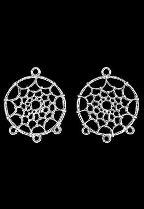 www.sayila.be - Metalen hangers/tussenzetsels dromenvanger 34x28mm
