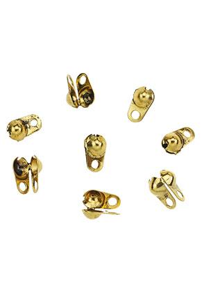 www.sayila.nl - Brass knijpkalot/klemmetjes voor bolletjeskettingen 8x4,5mm (± 40 st.)