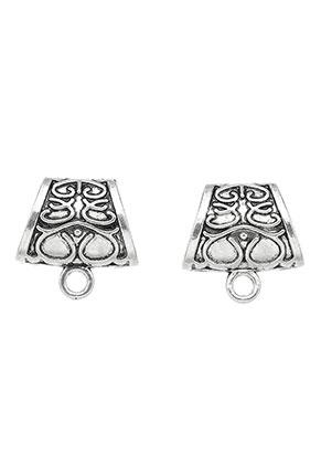www.sayila.es - Anillos para pañuelos/abalorios correderas de metal con ojo 23x23x10mm