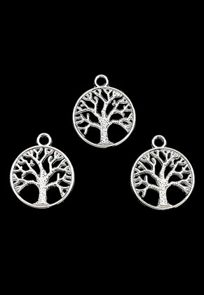 www.sayila.com - Metal pendants/charms round with tree 24x20mm