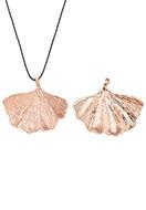 www.sayila.com - Metal pendant ginkgo leaf 53x44mm - D27092