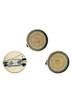 www.sayila.nl - Metalen brochespeld 20x7mm met kastje voor 18mm plaksteen