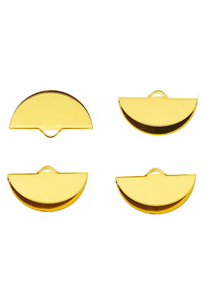 www.sayila.com - Brass half moon crimp ends for ribbon 19,5x11mm
