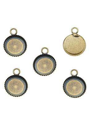 www.sayila.nl - Metalen hangers/bedels rond 15x11mm met kastje voor 10mm plaksteen