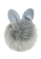 www.sayila.com - Fluff ball with loop bunny 12x10cm - D27201