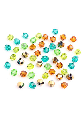 www.sayila-perlen.de - Mix Glaskristallperlen konisch 4x3,5mm