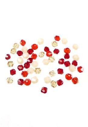 www.sayila.nl - Mix glaskralen kristal konisch 4x3,5mm