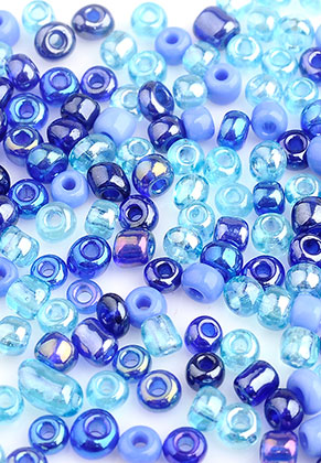 www.sayila.nl - Mix glas rocailles/borduurkralen 8/0 3x2-4mm (± 1200 st.)