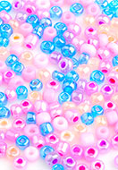 www.sayila.com - Mix glass seed beads 8/0 3x2-4mm (± 1200 pcs.) - D27259