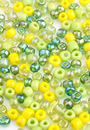 www.sayila.com - Mix glass seed beads 8/0 3x2-4mm (± 1200 pcs.) - D27260