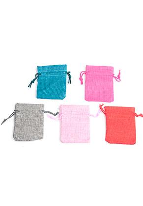 www.sayila.fr - Mélange de sacs en textile pour présentes 9x6,5cm