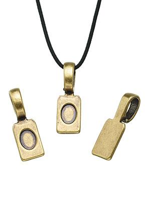 www.sayila-perlen.de - Metall Anhänger Kleböse (glue on bail) 24x8mm für Klebstein