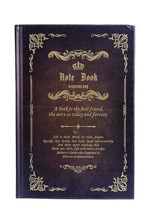 www.sayila.es - Cuaderno de notas con décoracion d'oro 21,5x14,5x1,8cm