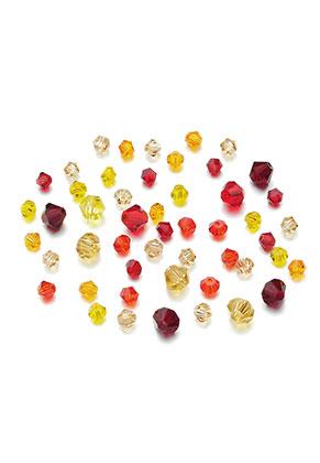 www.sayila.nl - Mix glaskralen kristal konisch 4-6x3,5-5mm