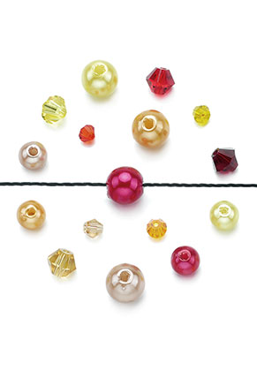 www.sayila.nl - Mix glaskralen kristal/kunststof parels 4-8x3,5-8mm (± 150 st.)