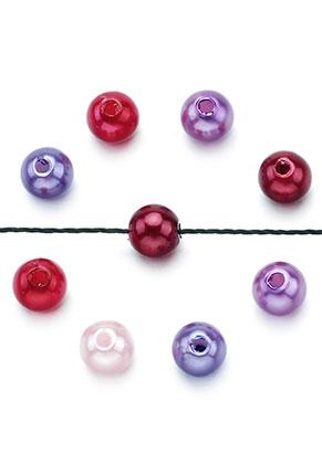 www.sayila.nl - Mix kunststof parels rond 8mm (± 80 st.)