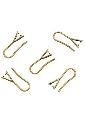 www.sayila.es - Ganchos pendientes de brass con enganche para colgante 21x8mm