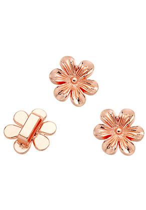 www.sayila.nl - Metalen schuifkralen bloem 21x20mm