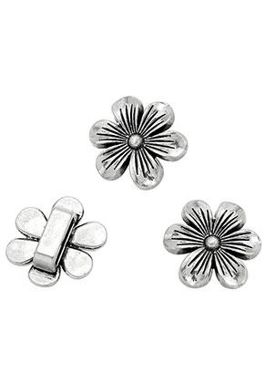 www.sayila.com - Metal slide-beads flower 21x20mm