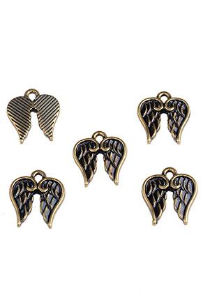www.sayila.nl - Metalen hangers/bedels vleugels 17x14mm