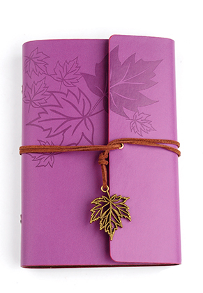 www.sayila.com - Notebook decorated with leaves 18,5x12,5cm