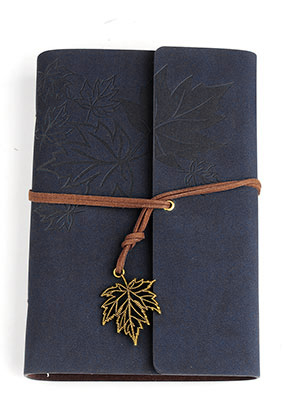 www.sayila.nl - Notitieboekje versierd met bladeren 18,5x12,5cm ^