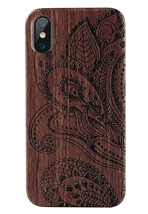 www.sayila.com - Wooden phone case for iPhone X 14,6x7,3x1,2cm