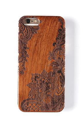www.sayila.nl - Houten back cover telefoonhoesje voor iPhone 7 / iPhone 8 14x6,9x1cm