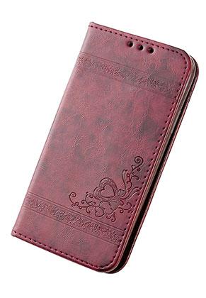 www.sayila.nl - Imitatieleren book case telefoonhoesje voor iPhone 7 / iPhone 8 14x7,1x1,5cm
