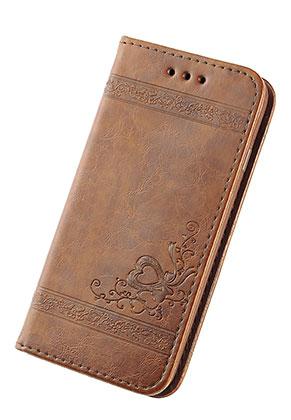 www.sayila.nl - Imitatieleren book case telefoonhoesje voor iPhone X 14,6x7,6x1,6cm