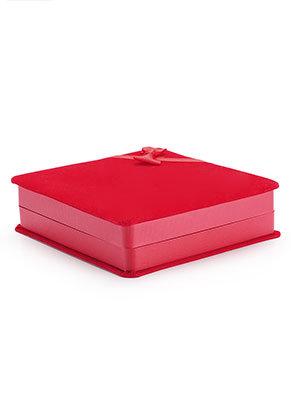 www.sayila.fr - Boîte-cadeau en matière synthétique/textile 17,5x16,5x5cm