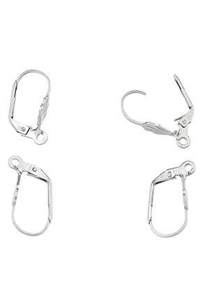 www.sayila.com - Stainless steel leverback earrings with eye 19x10mm