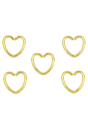 www.sayila.com - Metal rings heart 11mm (± 30 pcs.)