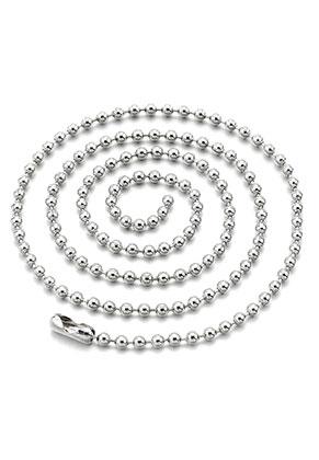 www.sayila-perlen.de - Edelstahl Ball Chain Halskette 50cm, 2mm dick