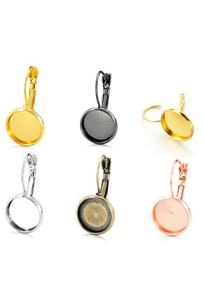 www.sayila.nl - Mix metalen klap oorbellen 23x12mm voor 10mm plaksteen