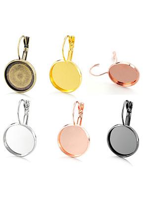 www.sayila.nl - Mix metalen klap oorbellen 30x18mm voor 16mm plaksteen
