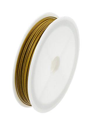 www.sayila-perlen.de - Stahldraht mit Beschichtung 0,8mm Rolle 18 meter
