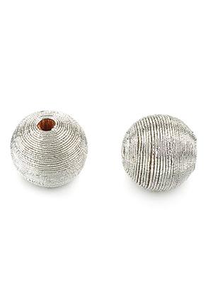 www.sayila-perlen.de - Holzperlen mit Faden umwickelt rund 22x21,5mm