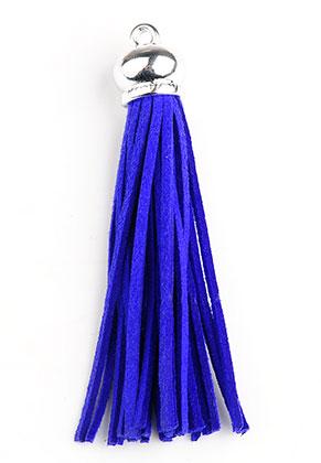 www.sayila-perlen.de - Kunstwildleder Quasten mit Käppchen 9x1,5cm