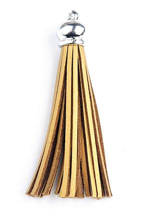 www.sayila.nl - Imitatieleren kwastjes met kapje 9x1,5cm
