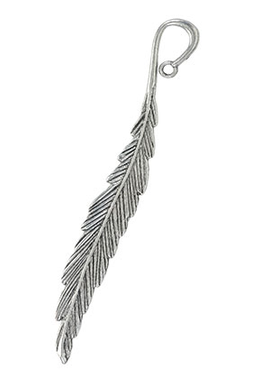 www.sayila.com - Metal bookmark feather 118x15mm