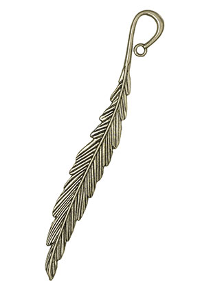 www.sayila.com - Metal bookmark feather 118x15mm