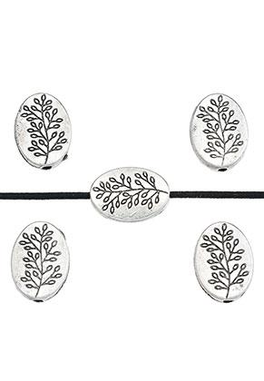 www.sayila.com - Metal beads flat oval with branch 13,5x10mm
