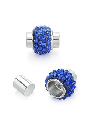 www.sayila.nl - Metalen magnetische sluiting met strass 17x15mm