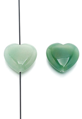 www.sayila.com - Natural stone bead Green Aventurine heart 25x23mm
